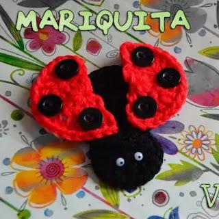 Mariquita a crochet