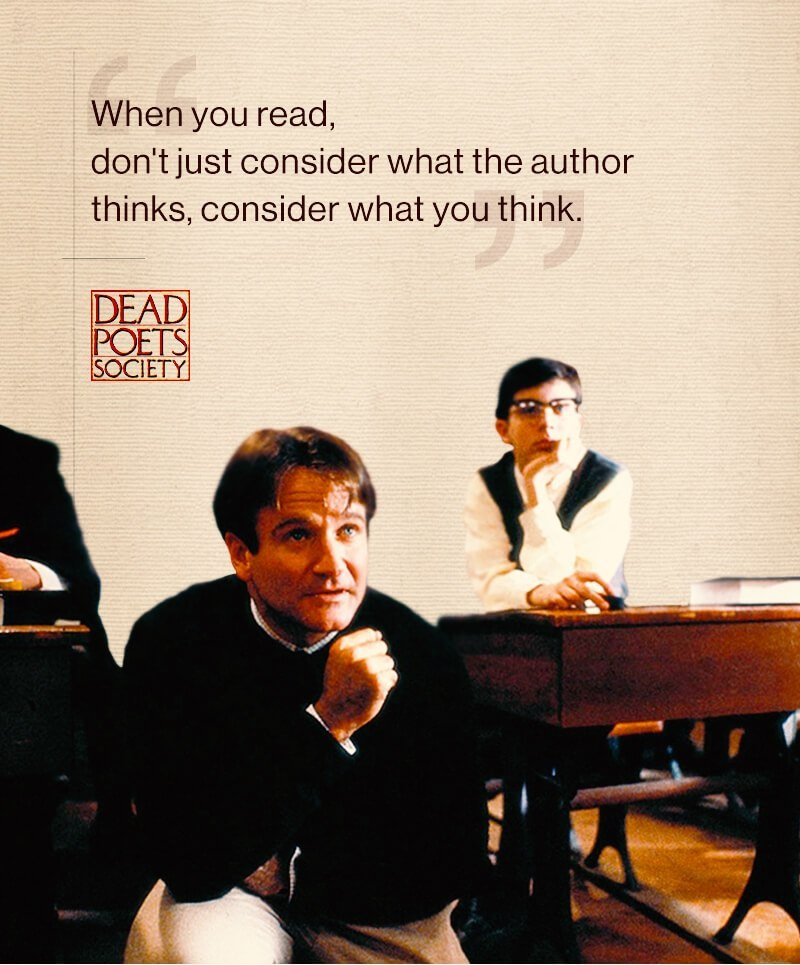 dead poets society responsibility Dead poets society is a 1989 american drama film directed by peter weir, written by tom schulman, and starring robin williamsset in 1959 at the fictional elite conservative vermont boarding school welton academy, it tells the story of an english teacher who inspires his students through his teaching of poetry.