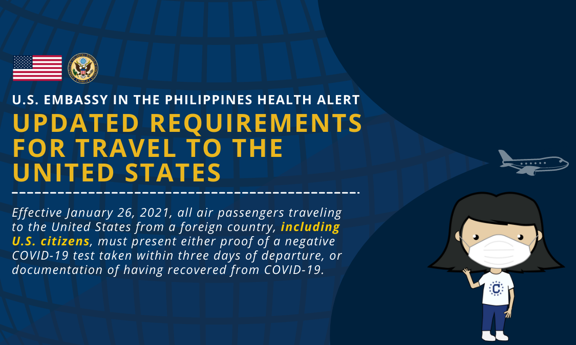 Health Alert: Updated Requirements for Travel to the United States