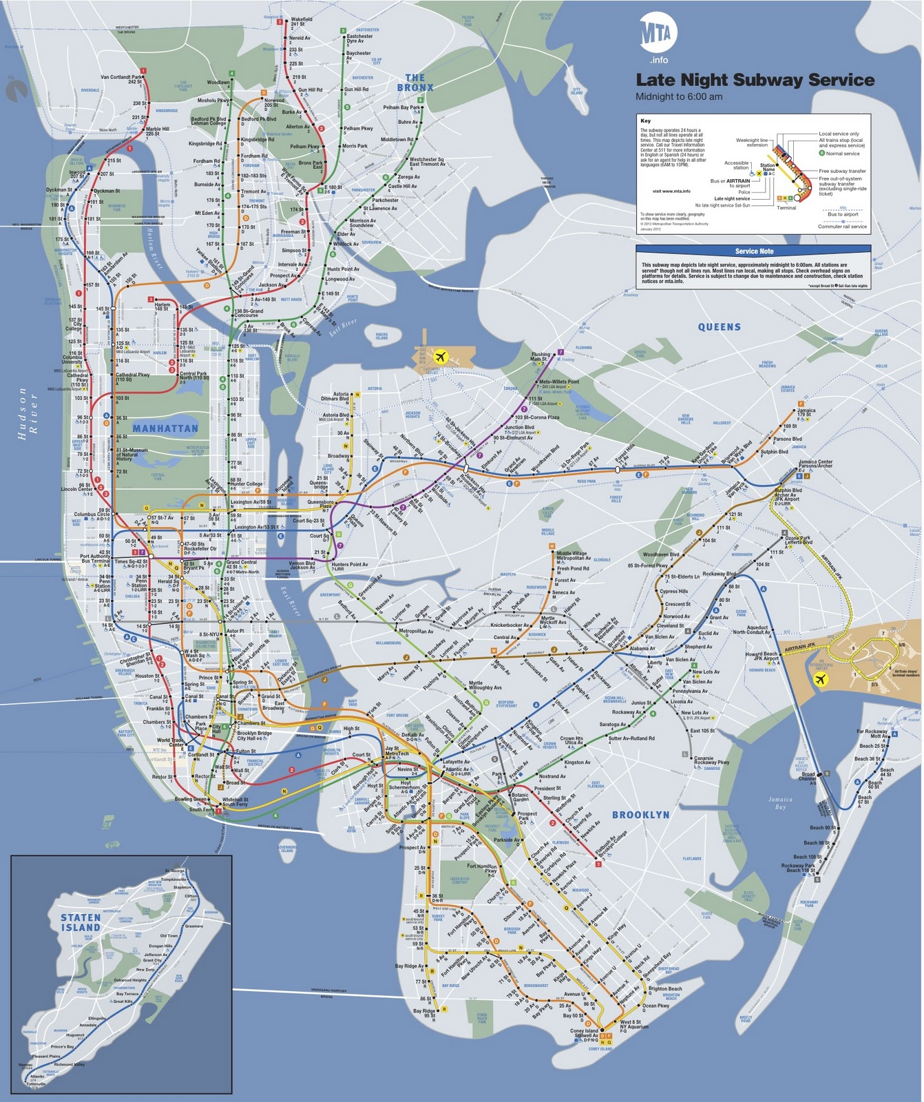 Subway Map Of Bronx.Bronx Press Politics Mta Releases First Ever Late Night Map