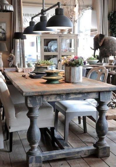 GRACEFUL FARMHOUSE DINING ROOM DESIGN IDEAS