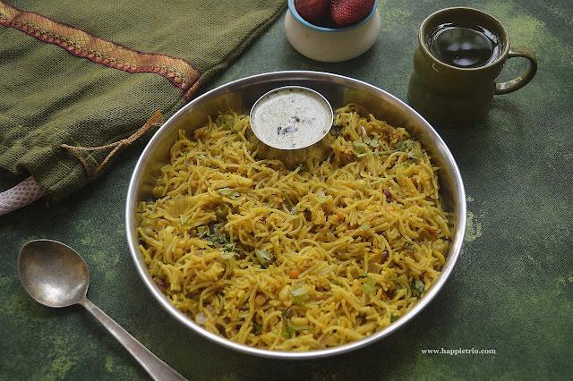 Semiya Upma Recipe | Vermicelli Upma Recipe