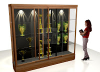 Trophy Display Showcase - Interior Toko