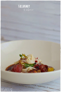 Tallarines. Receta a la marinera. ¡Descubre esta ensalada sorprendente de comer calamar!