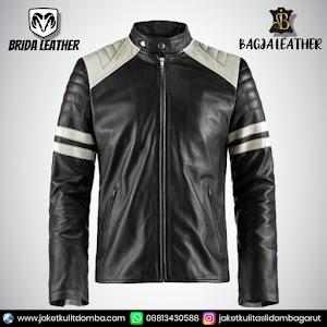 Jual Jaket Kulit Asli Garut Pria Domba Original Brida Leather B04   WA 08813430588