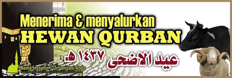 Download Desain Spanduk Hewan Qurban - Desain Free