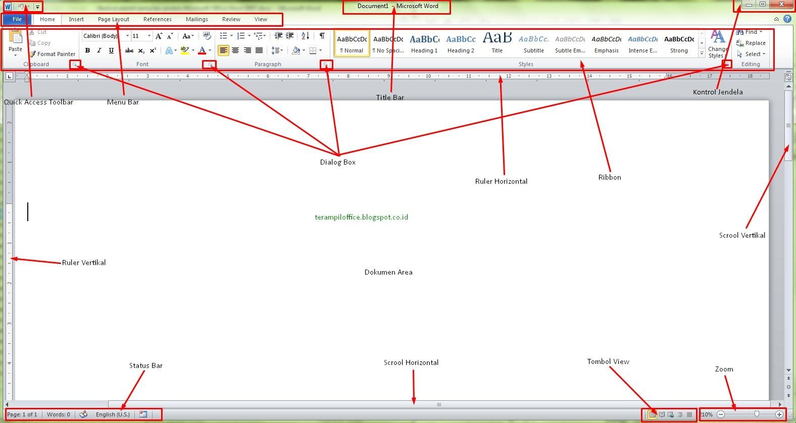 Tampilan Microsoft Word Lengkap
