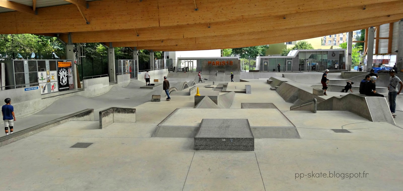Skatepark paris porte chapelle