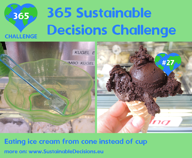 #27 - Eating ice cream from cone instead of cup, sustainable living, sustainability, climate action