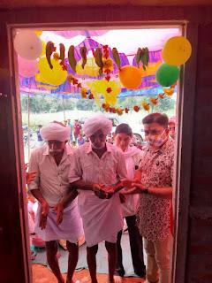 विधायक पटेल ने ग्रामीण परिवार को करवाया गृह प्रवेश