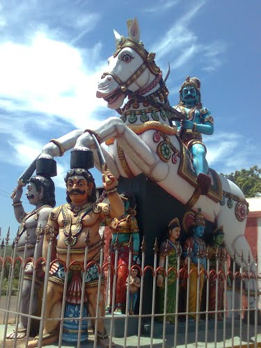 Aiyanar As A Warrior On White Horse