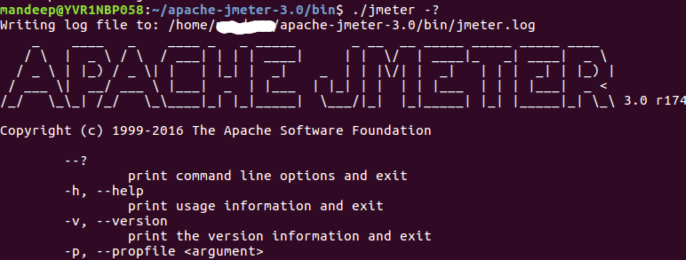 jmeter help launching in linux