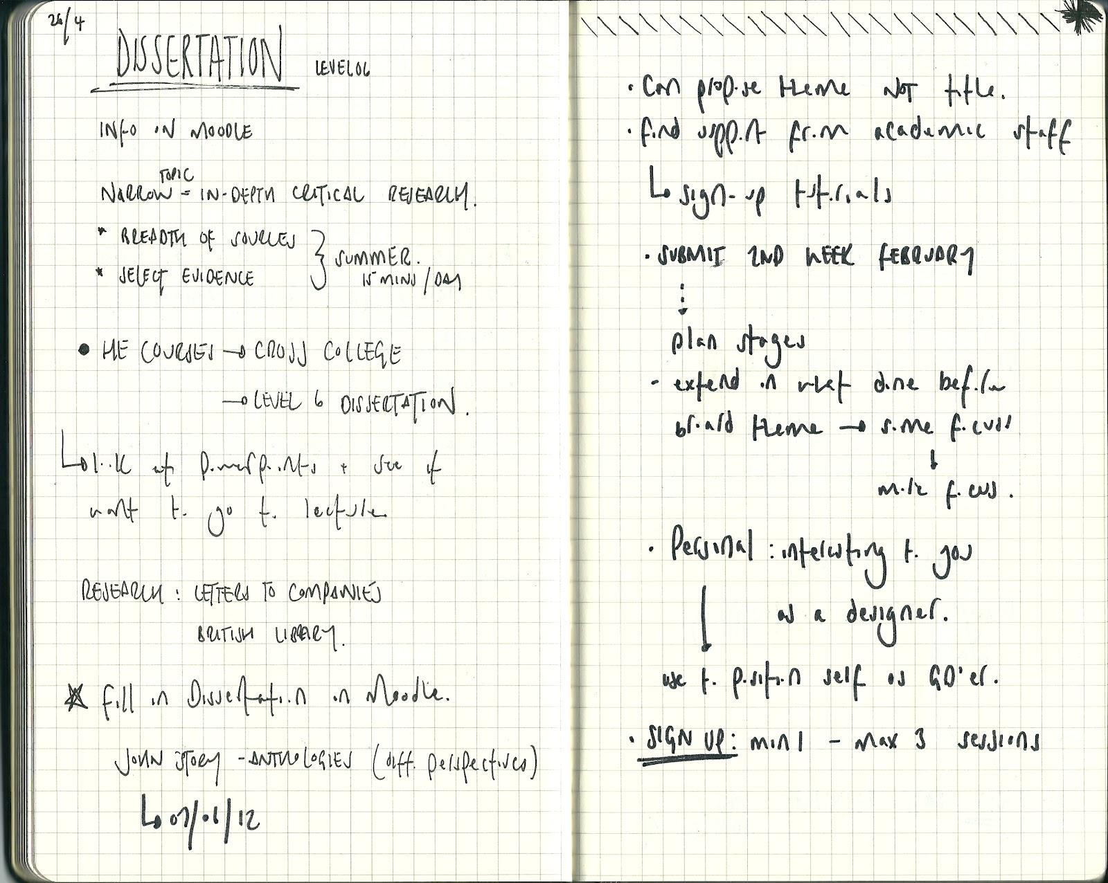 Dissertation notes