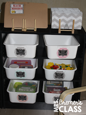 The perfect way to store task cards and task card holders- genius!