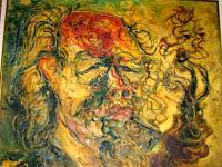 """Pelukis: Affandi Tahun: 1975 Judul : """" Cangklong """" Ukuran : 90cm X 120cm Media : Oil on Canvas"""