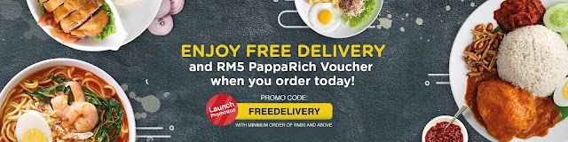 PappaDelivery Discount Code Coupon Free Delivery & PappaRich Voucher