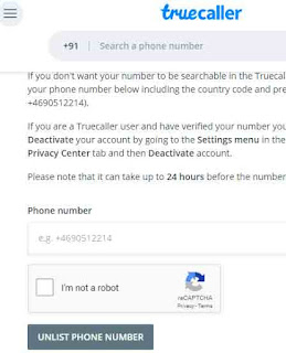Remove Your Mobile Number Truecaller Database