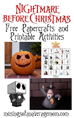 Nightmare before christmas printables