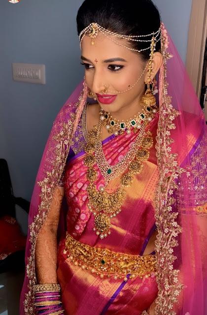 Bride in Lakshmi Antique Haram