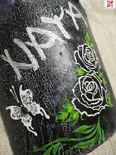 teja pintada a mano