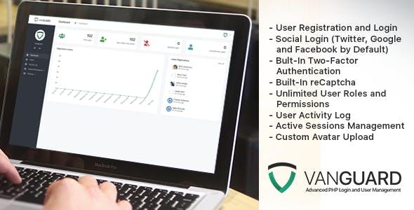 Vanguard v4.0.0 - Advanced PHP Login and User Management