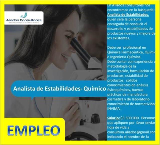 Analista de Estabilidades - Químico