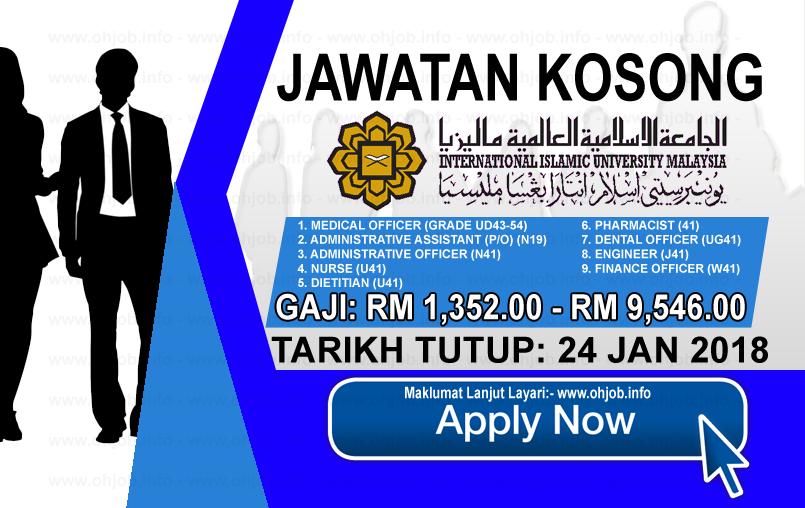 Jawatan Kerja Kosong International Islamic University Malaysia - IIUM logo www.ohjob.info januari 2018