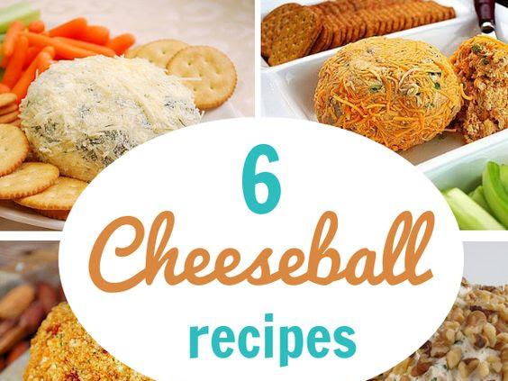 6 Cheeseballs for the Superbowl!