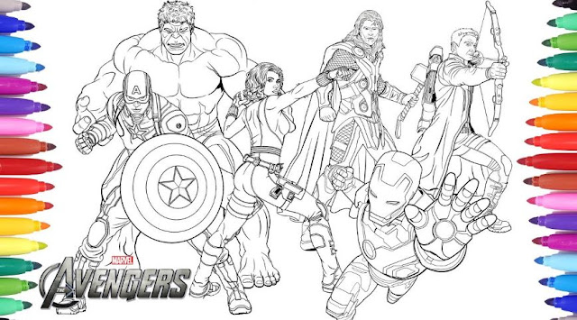 Gambar Mewarnai Avengers Marvel Infinity War ~ Gambar ...