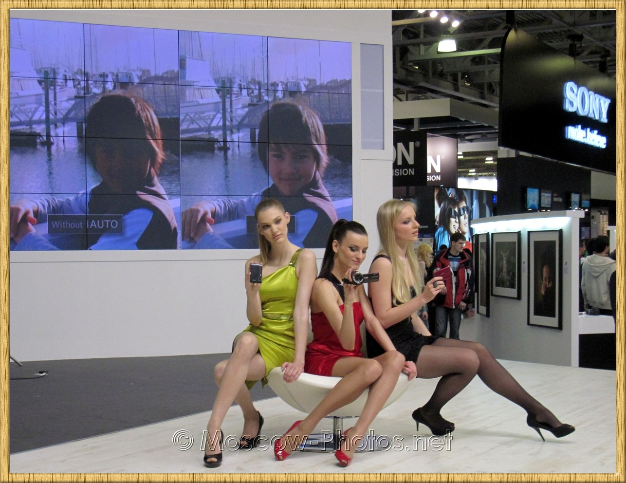 Sony beautiful girls at Photoforum