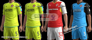 Rotherham United kits 2016-2017 Pes 2013
