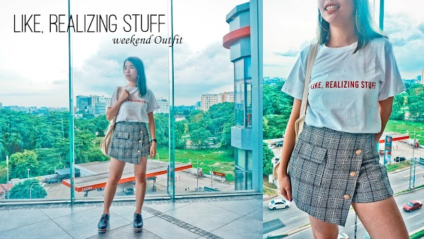 [Like, Realizing Stuff] Word Tee Weekend Outfit #86