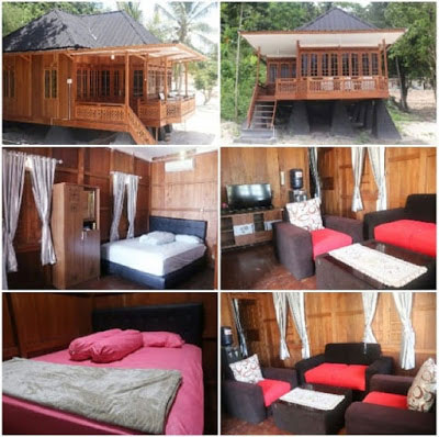 penginapan villa 2 kamar di pulau tegal mas