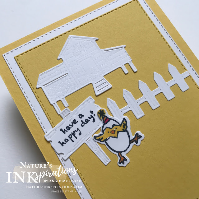 By Angie McKenzie for Hey Chicks Blog Hop; Click READ or VISIT to go to my blog for details! Featuring the Hey Birthday Chicks Bundle and the Hey Chick Bundle by Stampin' Up!; #birthdaycards #stamping #heychicksbloghop  #heychickbundle #heychickstampset #chickdies #heybirthdaychickstampset #heybirthdaychickbundle #birthdaychickdies #stitchedrectanglesdies #stitchedshapesdies #stampinblends #coloringwithblends #naturesinkspirations #makingotherssmileonecreationatatime #cardtechniques #stampinup #handmadecards