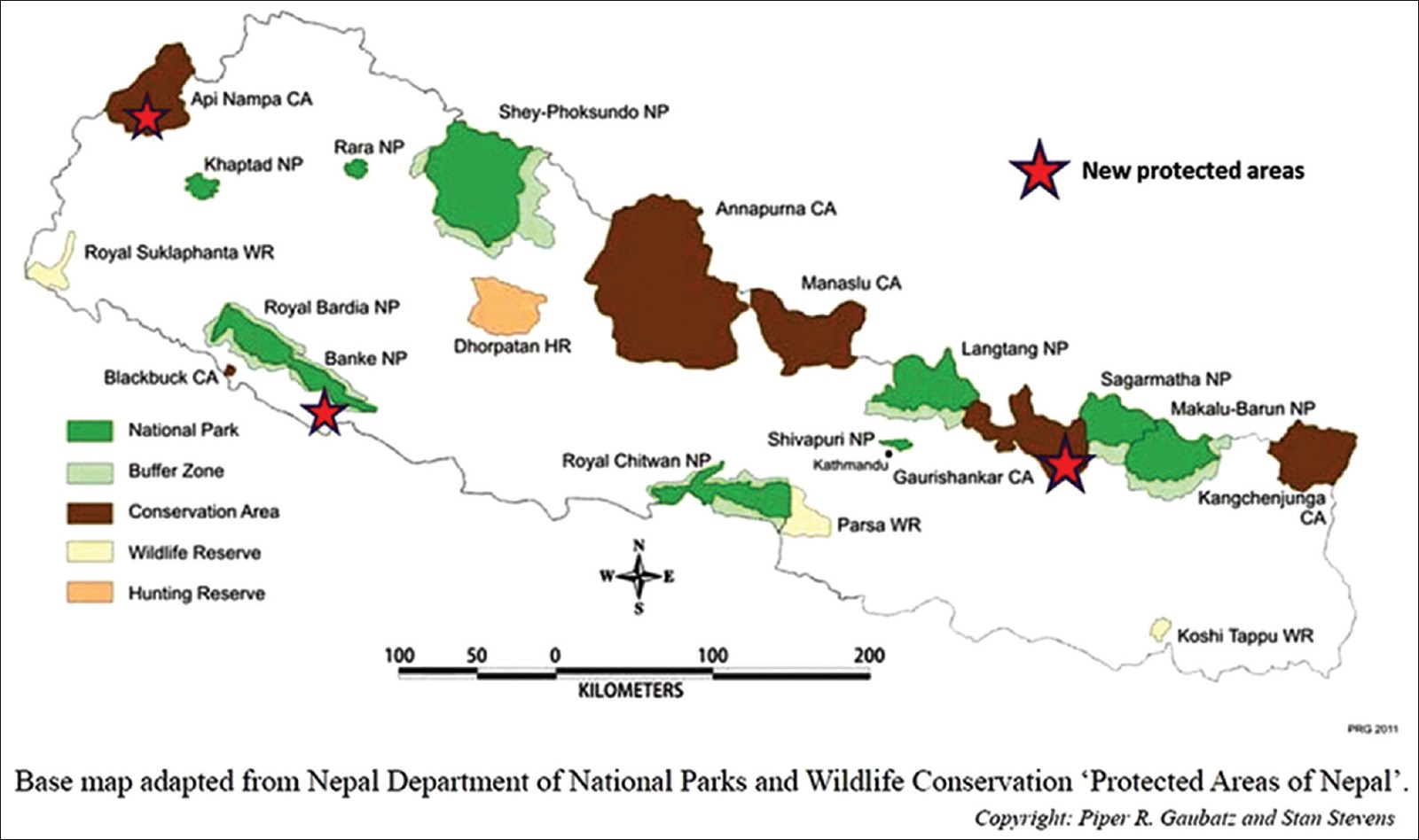 List of protected areas in summary of Nepal
