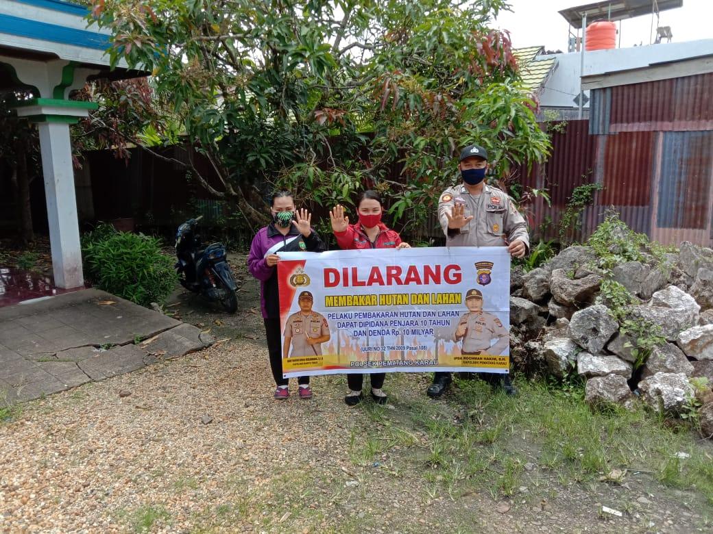 Bripka Untung gencarkan cegah Karhutla ke Masyarakat Desa Bambulung
