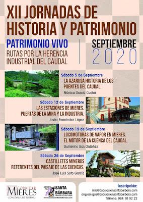 cartel, Mieres, Jornadas, historia, patrimonio