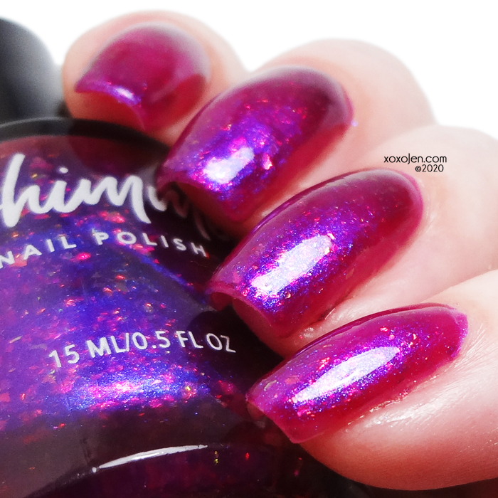 xoxoJen's swatch of KBShimmer Foreseeable Fuchsia