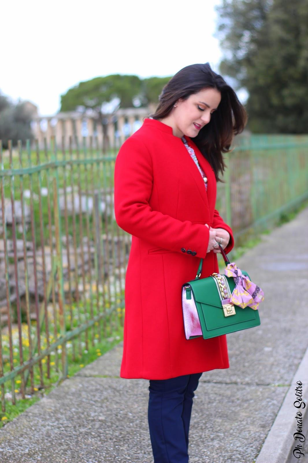 cappotto rosso mango