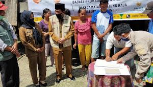 Baznas Sumsel, Bedah tiga Rumah Warga Tanjung Raja