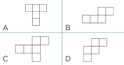Figure: Which of these is the net of a cube?