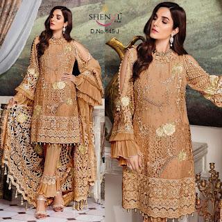 Shenyl Fab 145 Georgette Pakistani Suits wholesaler