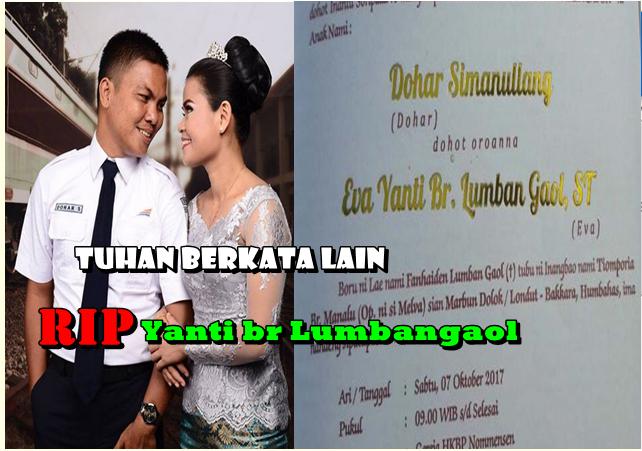 Foto dan Undangan pernikahan korban