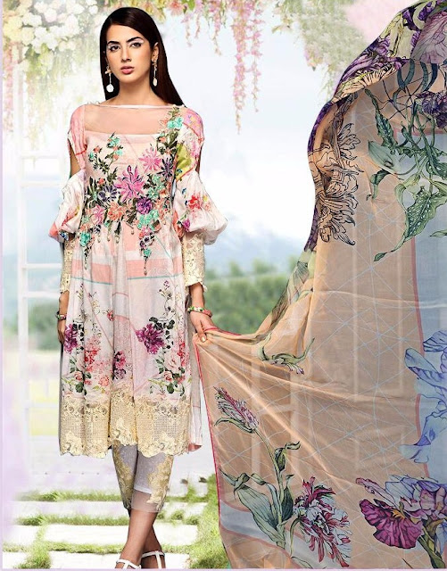 Al Safa Maria b 2 Cambric Cotton pakistani Suits wholesaler