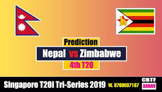 Tri Series Zim vs Nep 4th Match Prediction Today