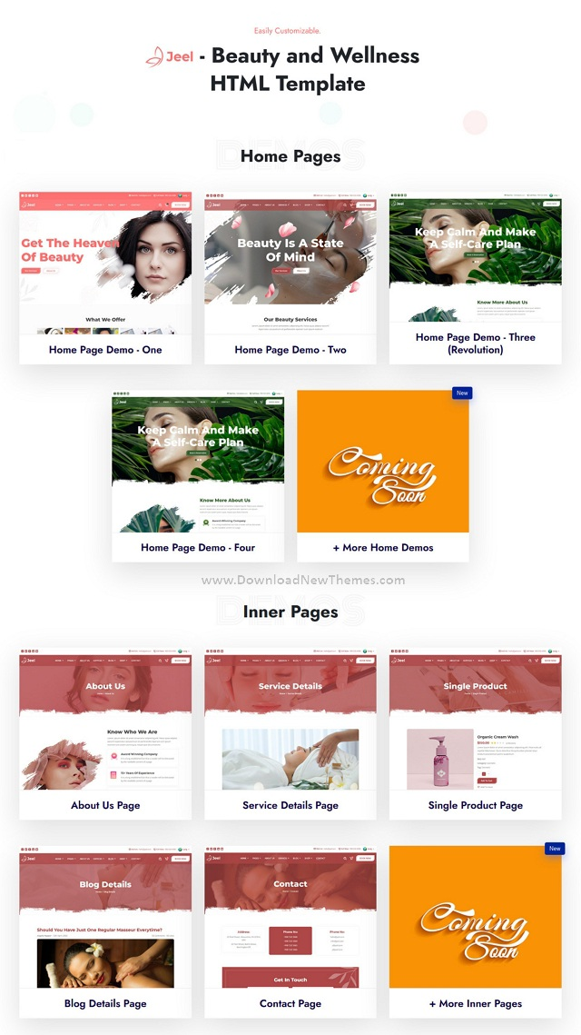 Beauty and Wellness HTML Template