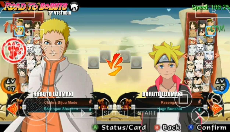 Naruto Shipudden Ultimate Ninja Storm 4 : Road To Boruto (Mod PPSSPP)