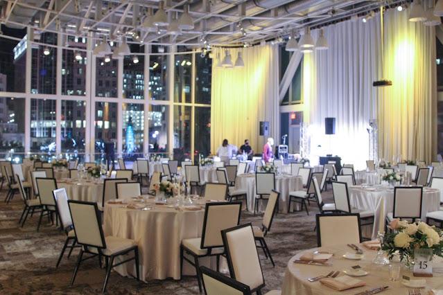 reception setup at dr. phillips center
