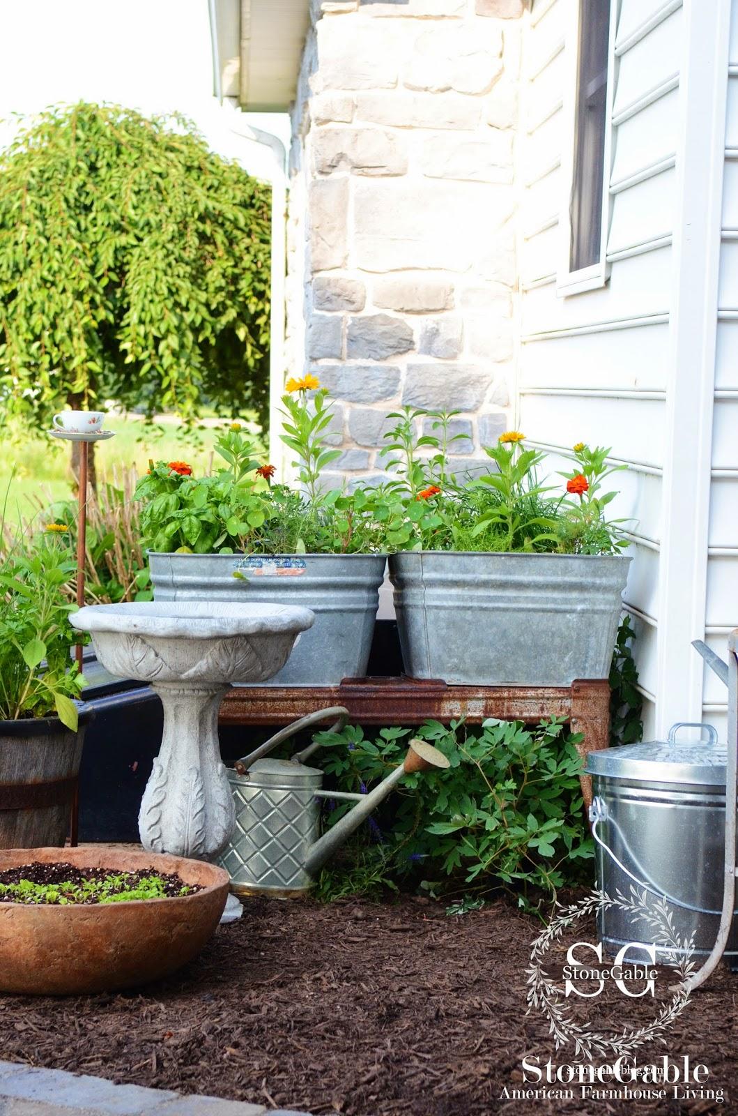 Kitchen Garden Blog Summer Potting Bench And Kitchen Garden Stonegable