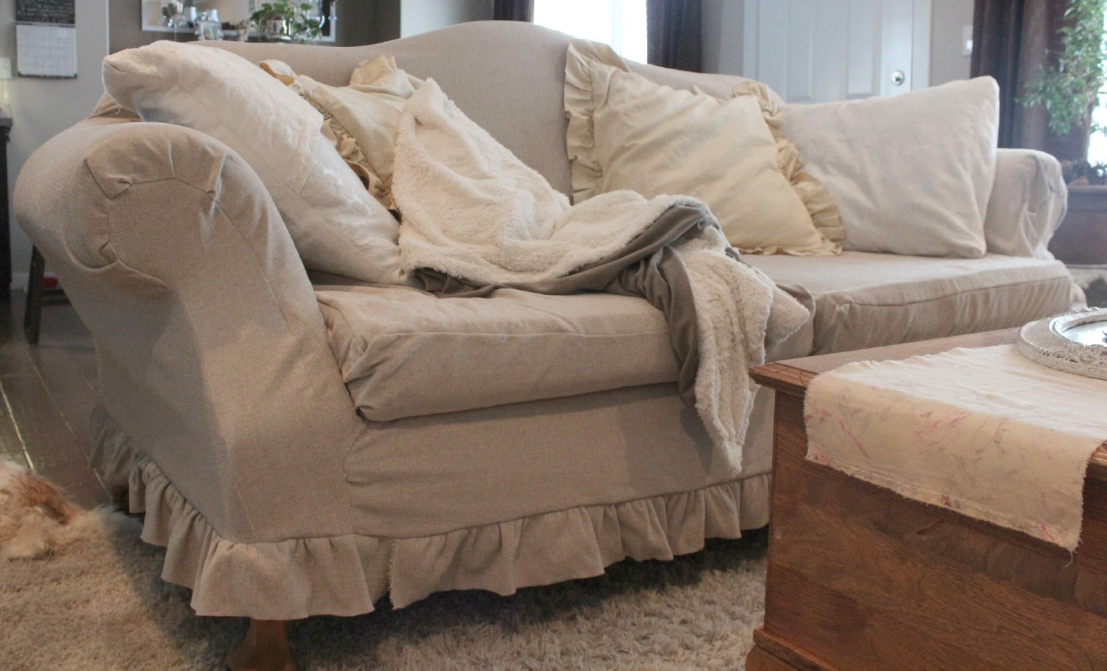 abby 39 s way slipcovers for our couch and love seat. Black Bedroom Furniture Sets. Home Design Ideas